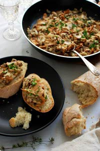 French Bread & Mushroom Bruschetta