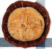 100% rye, cider and walnut bread