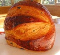 Sweet Polenta Currant Bread
