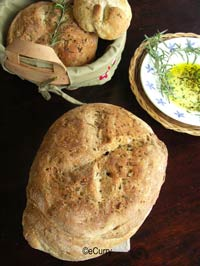 Rosemary Pepper Peasant Bread