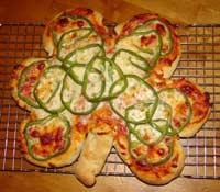Shamrock Pepper Pizza