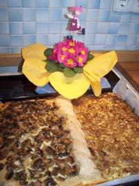 Mixed Seedbread and Onion/Mushroomquiche