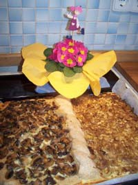 Mixed Seedbread and Onion/Mushroomquiche