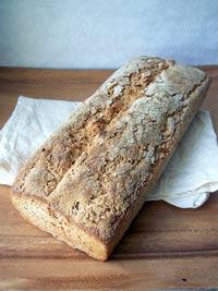 Whole Wheat and Oat Sourdough Bread