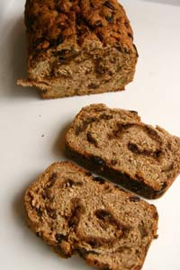 100% Whole Wheat Raisin bread