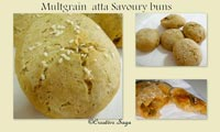 multigrain atta savoury bun