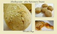 multigrain atta savoury bun