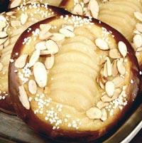 Pear Frangipane Brioche Tarts
