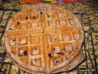 Blueberry Whole Wheat Sourdough Waffles