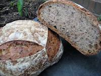 Sourdough Spelt with Flax Seeds
