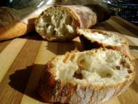 Jim Lahey's No-Knead Stirato (Italian baguette)