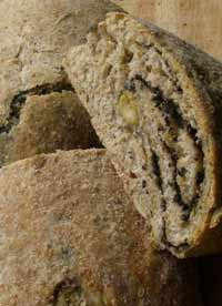 Olive and pumpkin seed bread