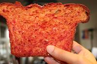 Beet Bread with a touch of Orange Zest