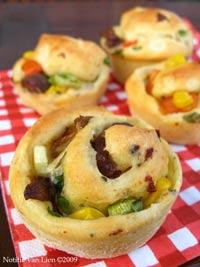 Pizza muffins