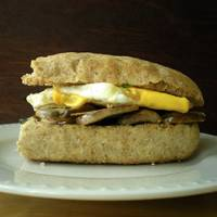 Wild Onion, Mushroom and Egg Sandwiches