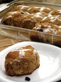 Whole Wheat Hot Cross Buns