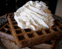 Malted Chocolate Waffles with sourdough