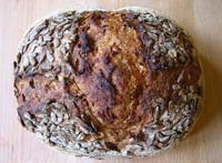 Rye Sourdough with Sunflower Seeds