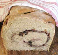 12 Grain Raisin Swirl Sourdough Bread