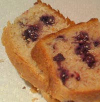Blueberry Wheat Bread with a tinge of Strawberry
