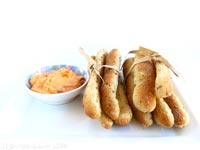 Whole-wheat Garlic and Basil Breadsticks