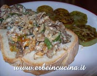 Sage and Courgette Bruschetta with Green Tomatoes