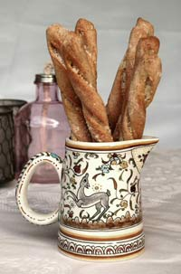 Richard Bertinet's bread sticks with cheese