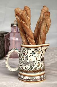 Richard Bertinet's bread sticks with cheese