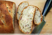 Olive Bread with Pancetta