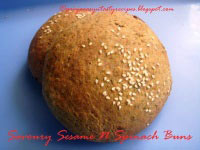 Savoury Sesame N Spinach Buns