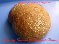 Savoury Sesame N Spinach Buns