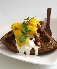 Yeasted Buckwheat Waffles