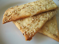 Lavash crackers (Armenian flatbread)