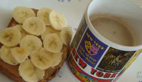 Peanut butter and Bananas on Toast