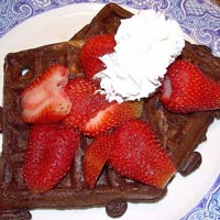 Whole Wheat Sourdough Chocolate Waffles