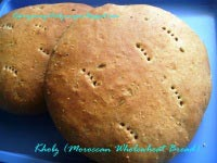 Khobz (Moroccan Wholewheat Bread)