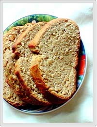 healthy wholewheat sweet bread