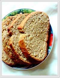 healthy wholewheat sweet bread
