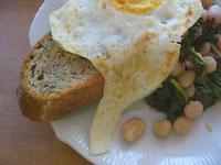 Marrow Beans and Arugula on Toast