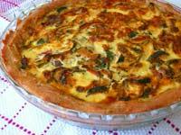Tomato Zucchini Quiche with a Sourdough Crust