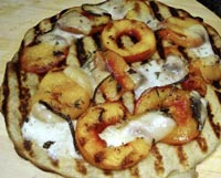Grilled Nectarine and Goat Cheese Pizza