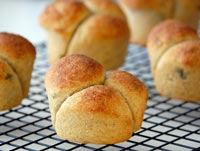 Herbed sourdough rolls
