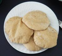 Whole Wheat Pitas