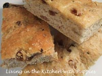 Raisin, Rosemary, and Cinnamon Focaccia