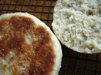 No-Knead English Muffins w/Oats & Cornmeal