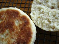 No-Knead English Muffins w/Oats & Cornmeal