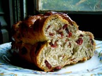 Double-Braided Cranberry-Walnut Celebration Bread