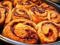 Whole What Peach Cinnamon Buns