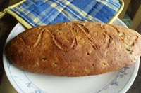 Whole Wheat Whey Olive Herbed Bread