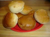 Hamburger Buns and Cheese Bread